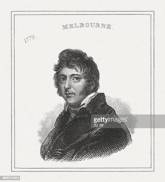 william lamb, 2nd viscount melbourne (1779-1848), british politician, published 1843 - governmental occupation stock illustrations, clip art, cartoons, & icons