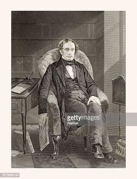 william prescott , 19 century portrait - inventor stock illustrations