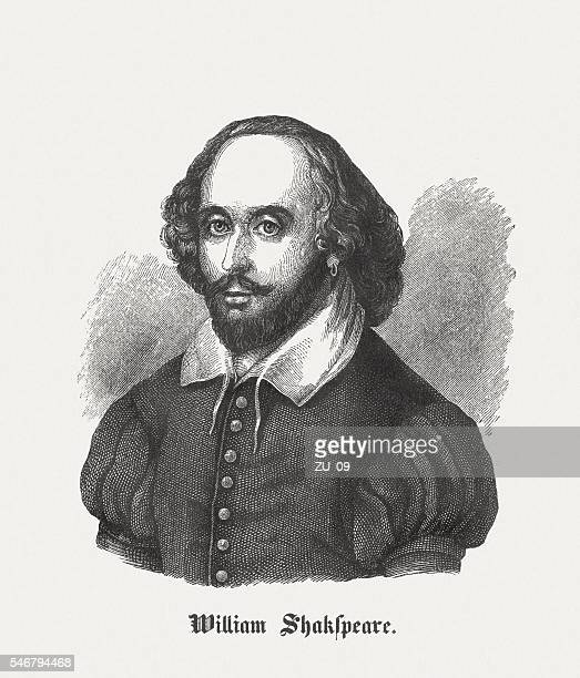 William Shakespeare (c.1564-1616), English playwright, wood engraving, published in 1848