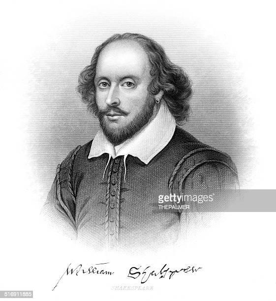 william shakespeare engraving - william shakespeare stock illustrations, clip art, cartoons, & icons