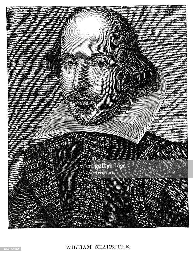 William Shakespeare : stock illustration