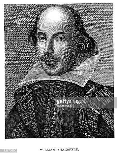 william shakespeare - authors stock illustrations