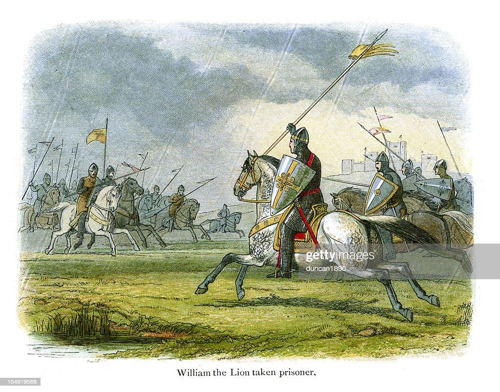 William the Lion taken prisoner : stock illustration