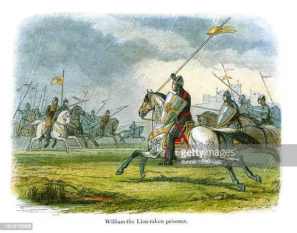 william the lion taken prisoner - northeastern england stock illustrations, clip art, cartoons, & icons