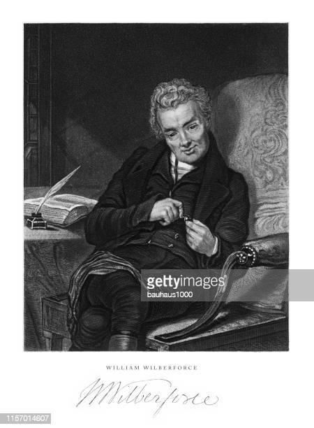 ウィリアム・ウィルバーフォース、英国ビクトリア朝彫刻、1840年 - ウィリアム ウィルバーフォース点のイラスト素材/クリップアート素材/マンガ素材/アイコン素材