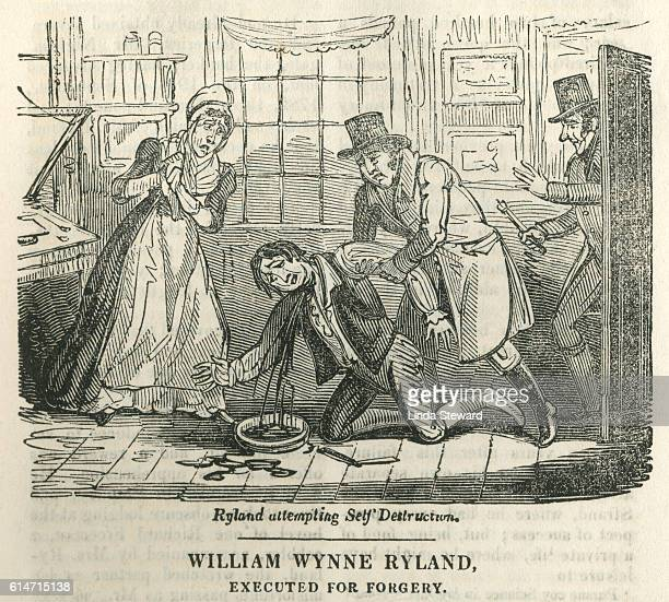 william wynne ryland, executed for forgery - infamous stock illustrations, clip art, cartoons, & icons
