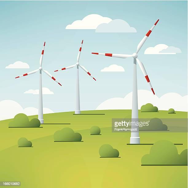 Windkraftanlage Landschaft Vektor