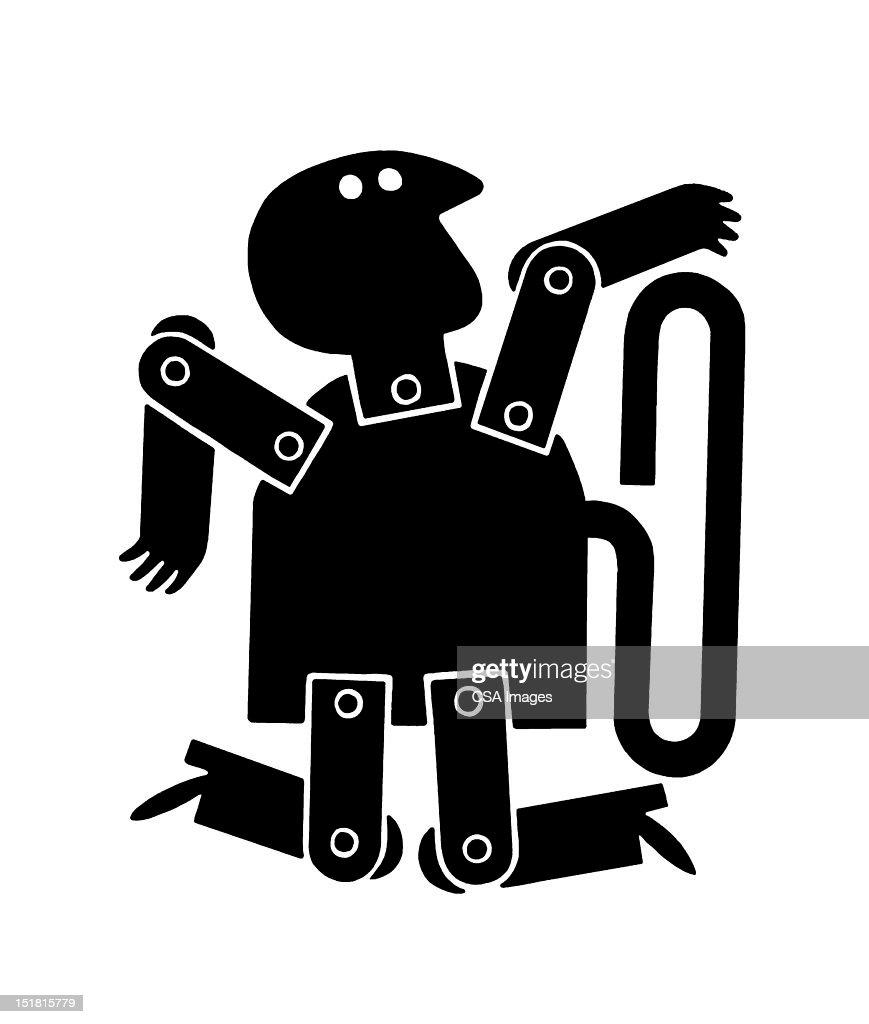 Wind up Man : stock illustration