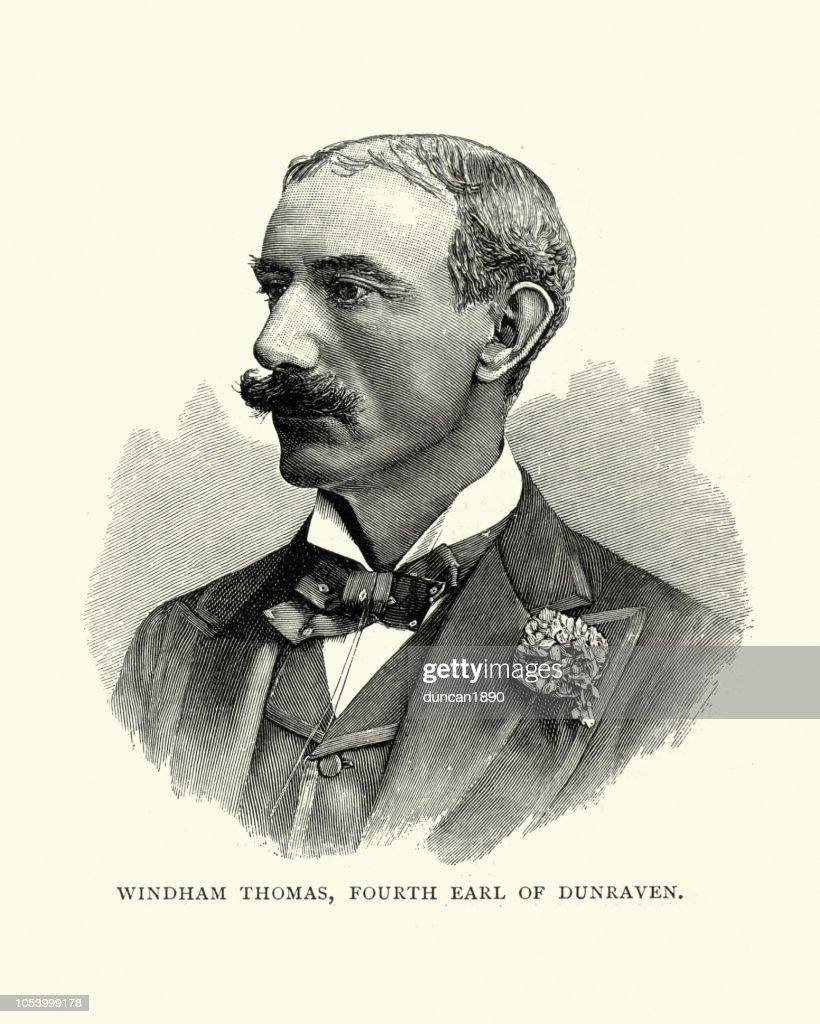 Windham Wyndham-Quin, 4th Earl of Dunraven : stock illustration
