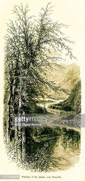 Windings of the Juniata River, Pennsylvania