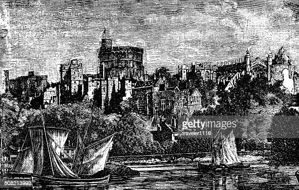 windsor castle - windsor castle stock illustrations