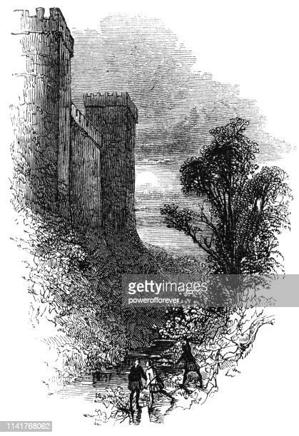 windsor castle in the town of windsor, england - 15th century - windsor castle stock illustrations