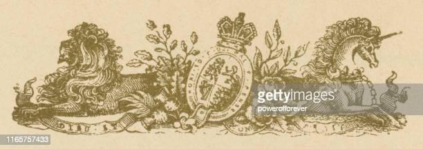 windsor castle letterhead - 19th century - windsor england stock illustrations