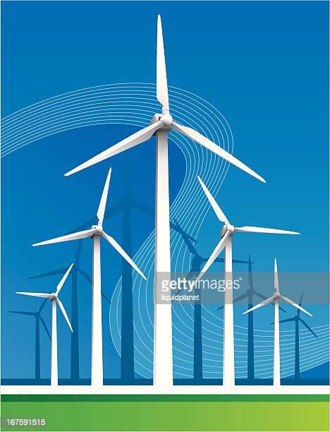 60点の風力発電機のイラスト素材クリップアート素材マンガ素材