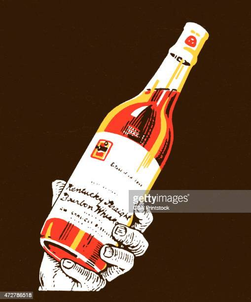 wine bottle - stag night stock illustrations, clip art, cartoons, & icons