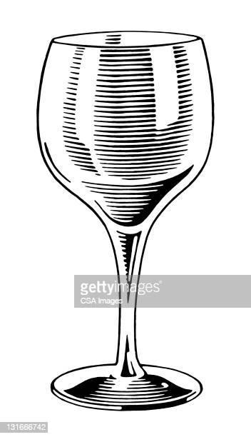 ilustrações de stock, clip art, desenhos animados e ícones de wine glass - bebida alcoólica