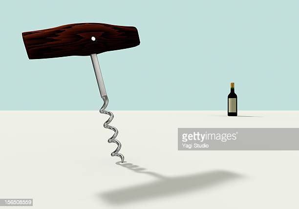 A wine opener and wine