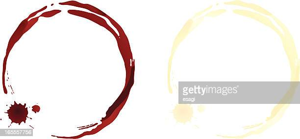 wine stains - red wine stock illustrations, clip art, cartoons, & icons