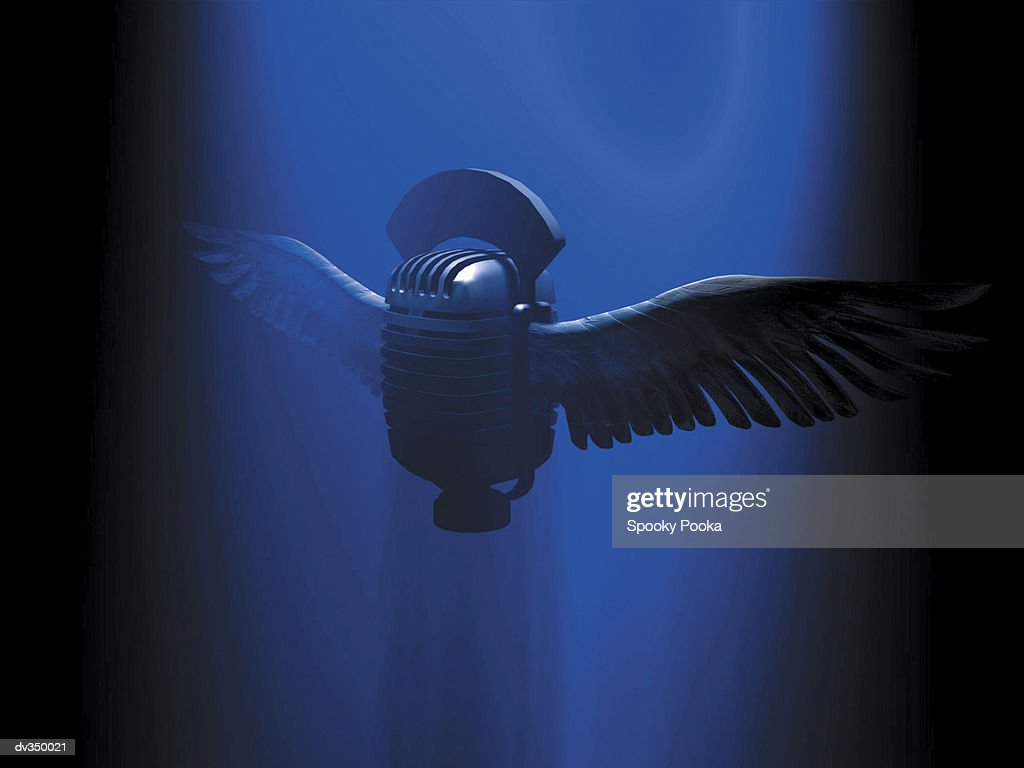 Winged microphone : Ilustração de stock