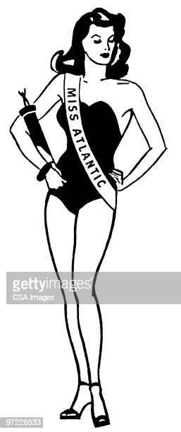 ilustraciones, imágenes clip art, dibujos animados e iconos de stock de winner - reina de belleza