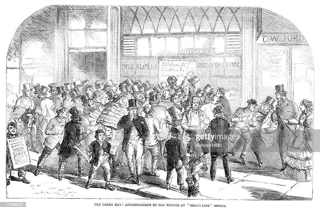 Winners at the Derby Day : stock illustration