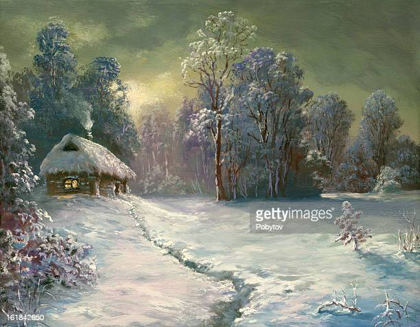winter country house