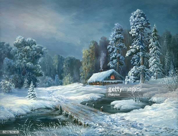 Winter fairy tale night