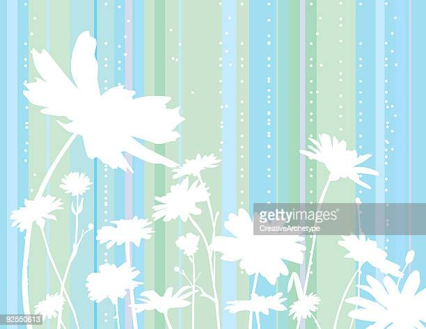 winter flowers - gerbera daisy stock illustrations, clip art, cartoons, & icons