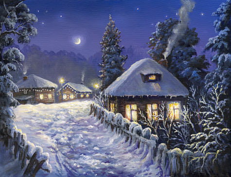 winter holiday in the village - gettyimageskorea