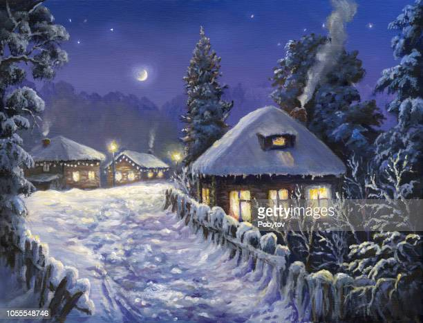 winter holiday in the village