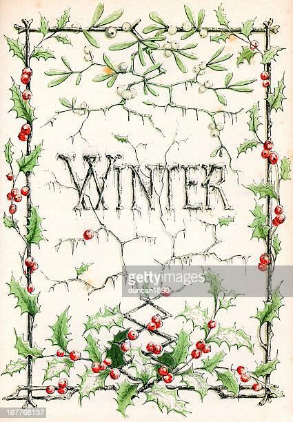 winter - 19th century stock illustrations