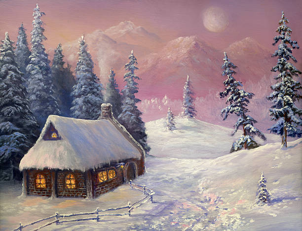 Winter In The Mountains Wall Art