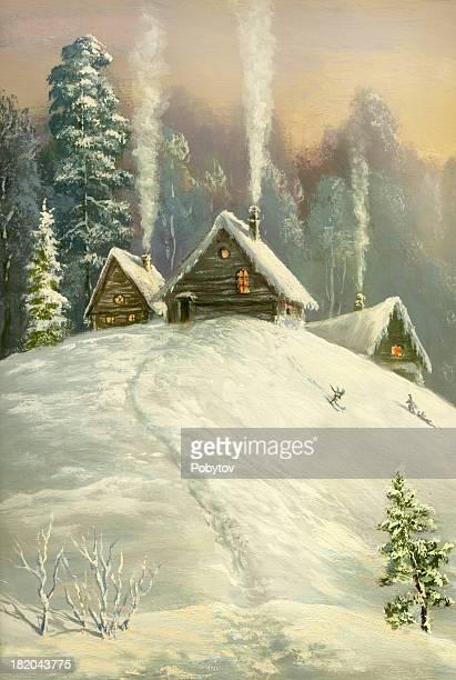 winter land - national holiday stock illustrations