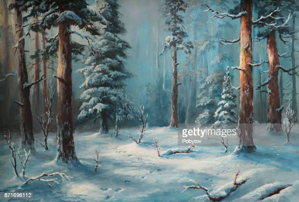 winter night - ethereal stock illustrations, clip art, cartoons, & icons