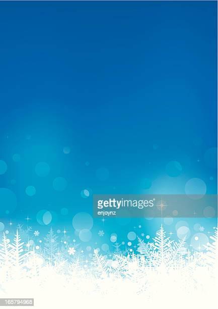 冬の結晶の背景