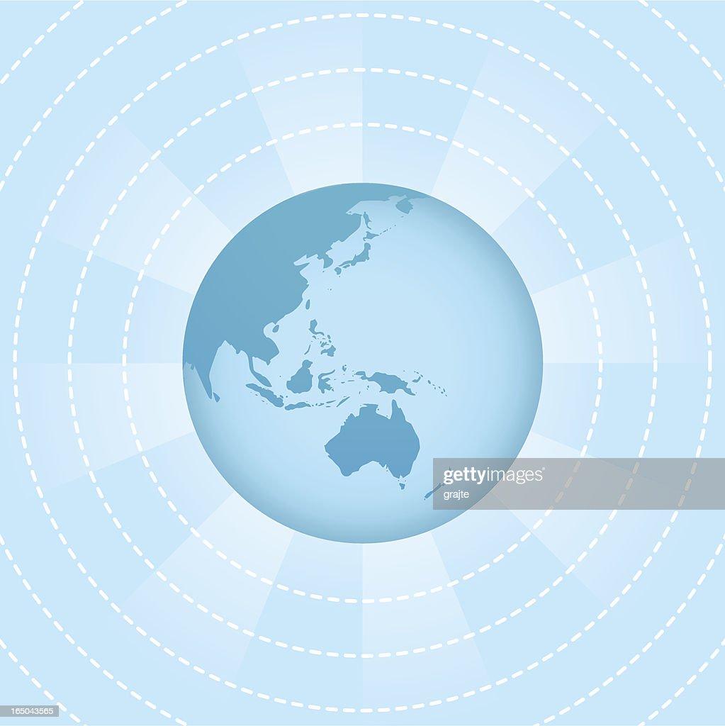 Wireless World - Oceania ( vector & jpg )