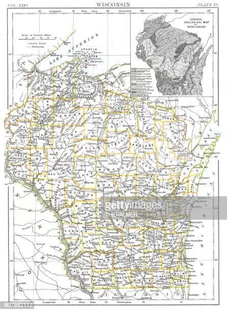 Wisconsin ggmap 1885