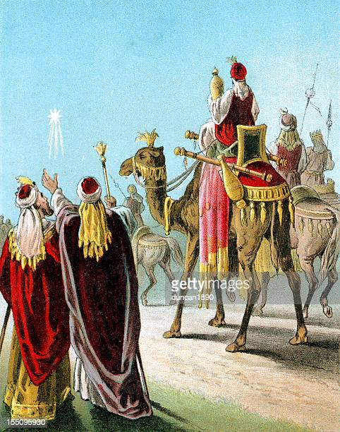 wise men of the east - three wise men stock illustrations, clip art, cartoons, & icons