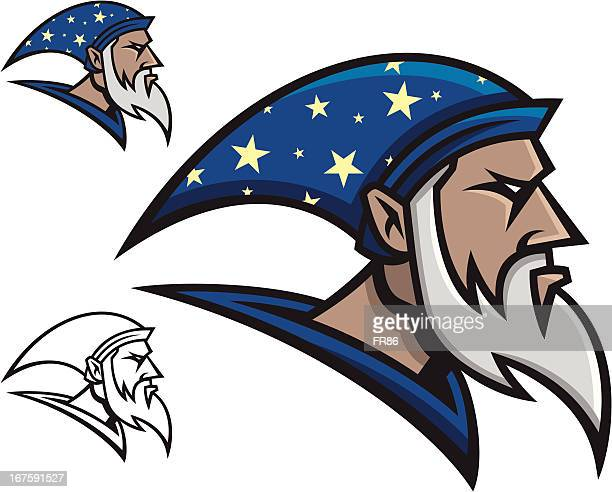 wizard mascot - wizard stock illustrations, clip art, cartoons, & icons