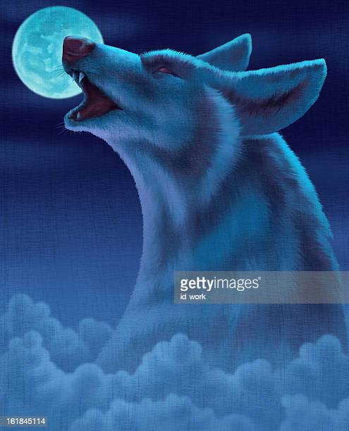 wolf howling - howling stock illustrations, clip art, cartoons, & icons