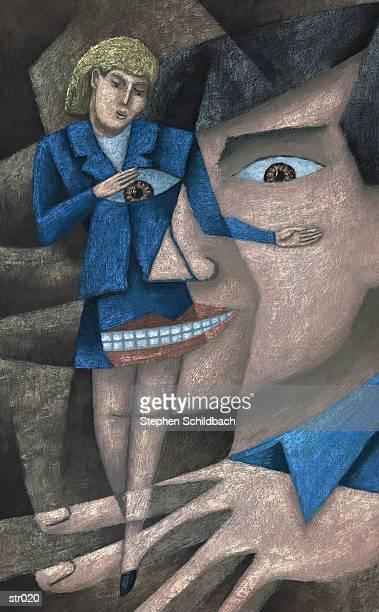 woman being watched - erotikbilder stock-grafiken, -clipart, -cartoons und -symbole
