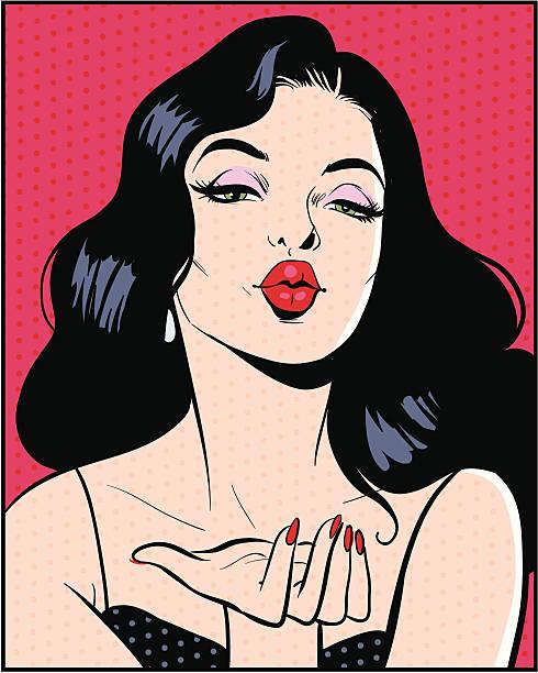 Woman blowing kiss