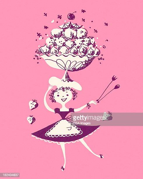Woman Carrying a Fruit Bowl