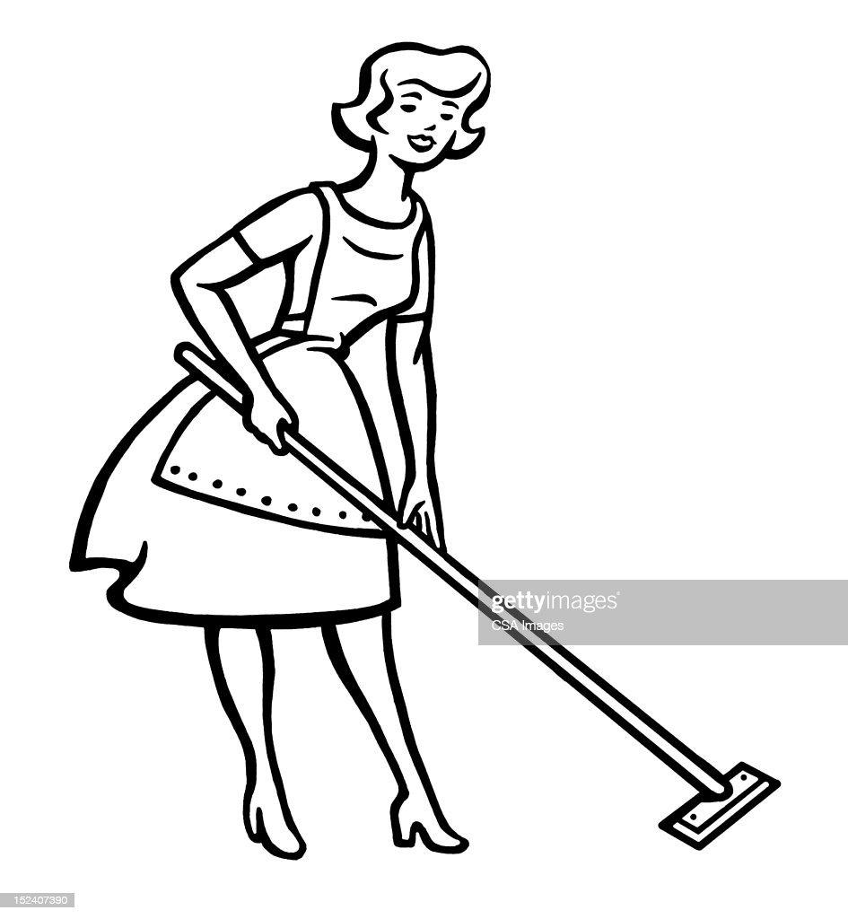 Woman Cleaning Floor : stock illustration