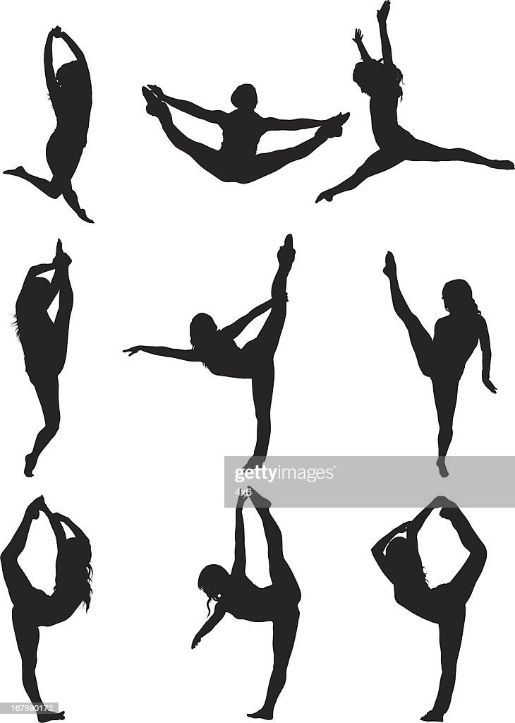 Woman dancing : Stock Illustration