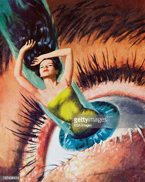 Woman Emerging From Woman's Eye