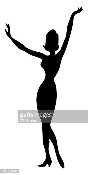 woman - hourglass stock illustrations