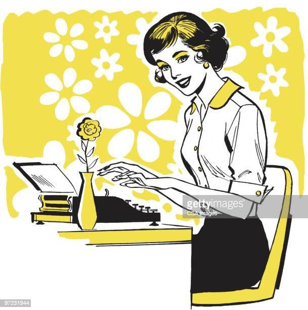 woman - writing stock illustrations