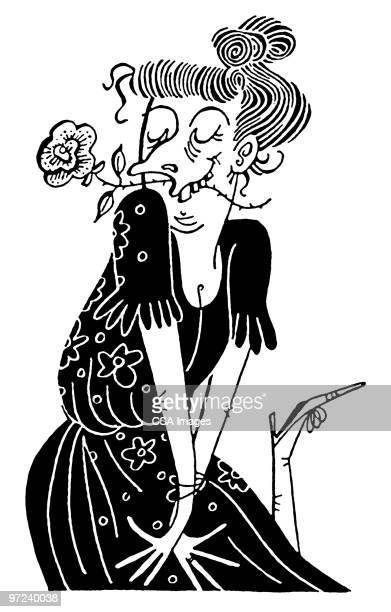 woman - ugliness stock illustrations, clip art, cartoons, & icons