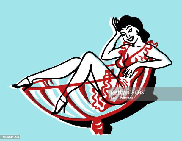 woman in cocktail glass - stag night stock illustrations, clip art, cartoons, & icons
